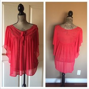 Flattering Coral Blouse